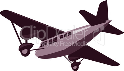 vintage propeller airplane flying