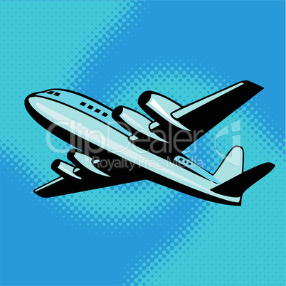 Jumbo Jet Plane Flying Retro