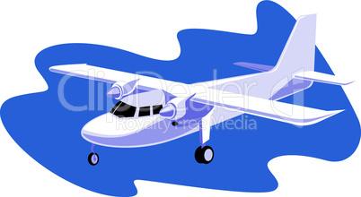 propeller airplane retro