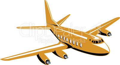 vintage propeller airplane flying