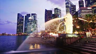 Singapore day to night. time lapse