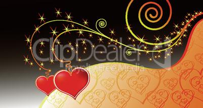 Vector magic love card