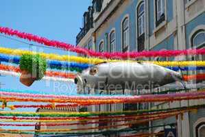 Sardine and Sweet Basil on Feast Days of the Popular Saints in Lisbon