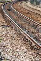 Empty railway tracks