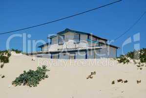 Resort villa on beach dunes (ocean front)