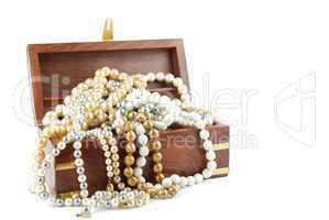 Jewel box on white