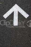Asphalt with arrow