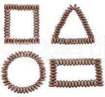 Chocolate geometric shapes