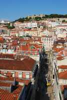 Lisbon cityscape with Sao Jorge Castle