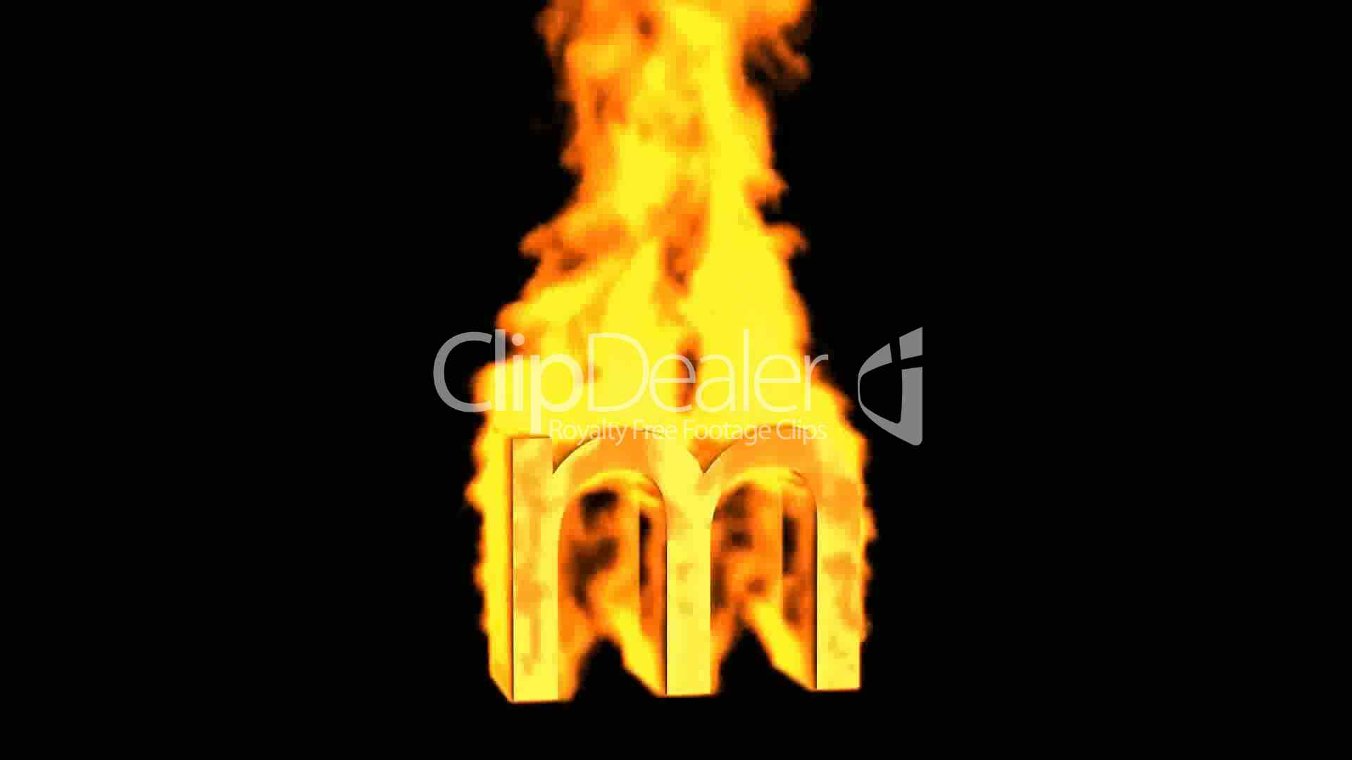 Fire Letter M Royalty Free Video And Stock Footage