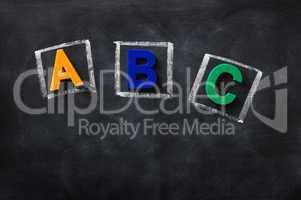 ABC on a blackboard