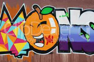 Graffiti Wall (Orange)