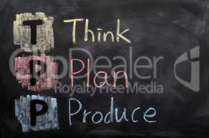 Think, plan and produce