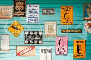Surf house signs