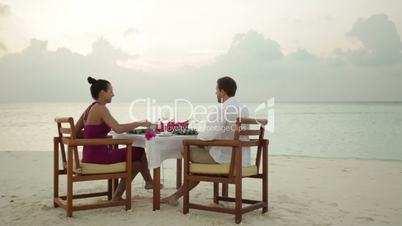 romantic dinner on deserted island