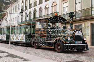 Sightseeing car train in Tomar