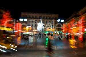 Lisbon downtown during Christmas