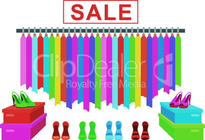 Clothes and footwear sale