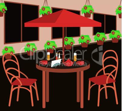 Summer street cafe
