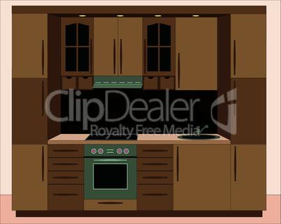 Kitchen furniture. Interiors