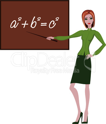 Teacher explains the theorem