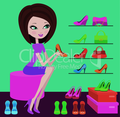 Shop of female footwear