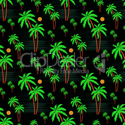 Seamless palm pattern