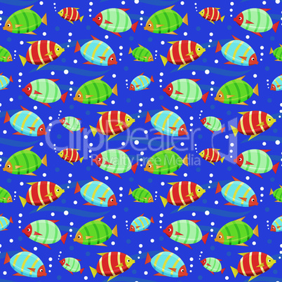 Seamless fishes pattern