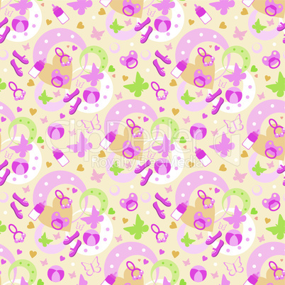 Seamless children's things pattern