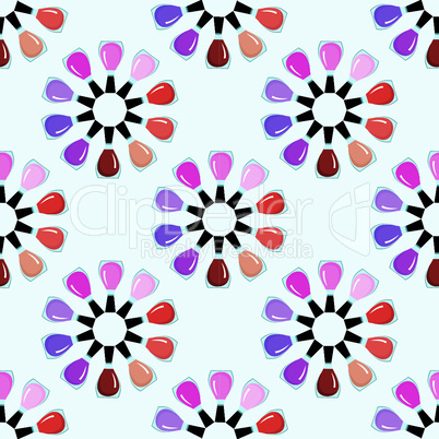 Seamless nail polish pattern.