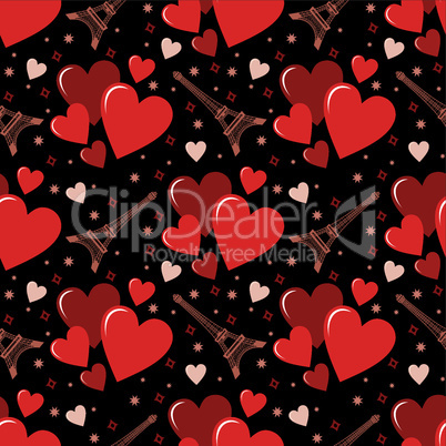 Seamless hearts pattern.