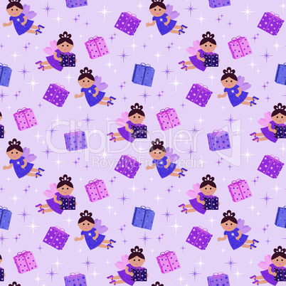 Seamless fairy pattern
