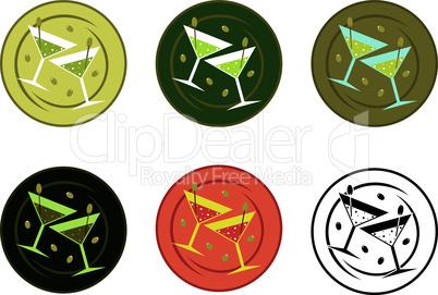 Wine glasses, emblem