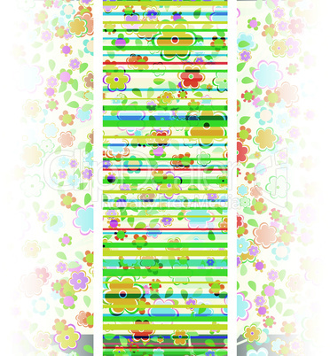 vector beautiful flower background art. floral pattern