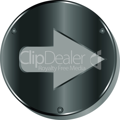 Arrow metallic 3d vibrant round icon
