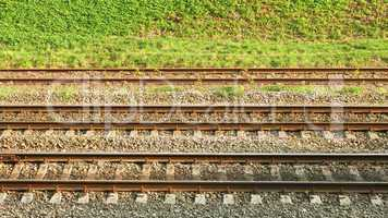Parallel rail lines