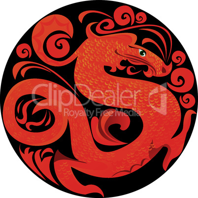 Symbol 2012 dragon in circle