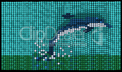 Dolphin mosaic background