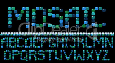 mosaic letters. Please, look mosaic numerals and frames in my portfolio
