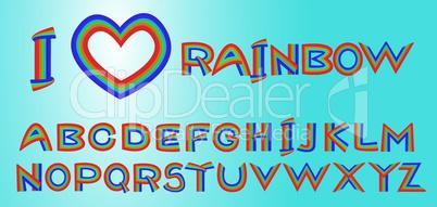 rainbow letters. Please, look rainbow borders