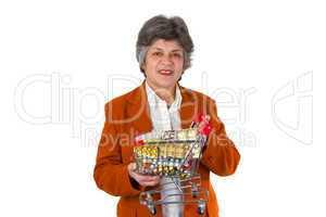 Seniorin mit Tabletten