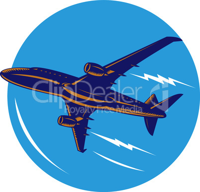 airplane jet retro
