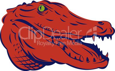 alligator head retro