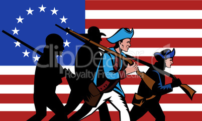 american minutemen march retro