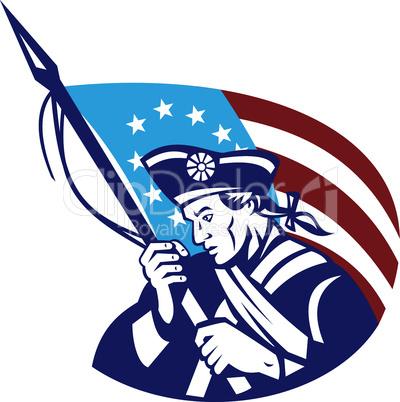 american revolutionary flag retro