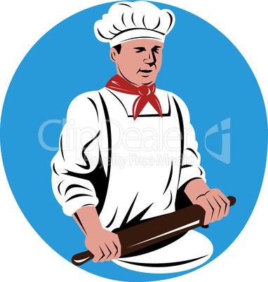 baker rolling pin retro