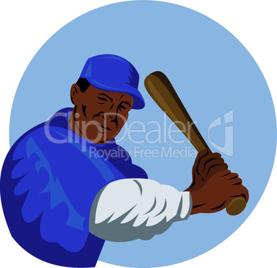 baseball batter retro