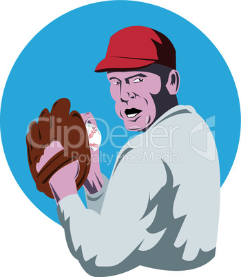 baseball pitcher retro