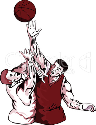 basketball rebounding bust retro
