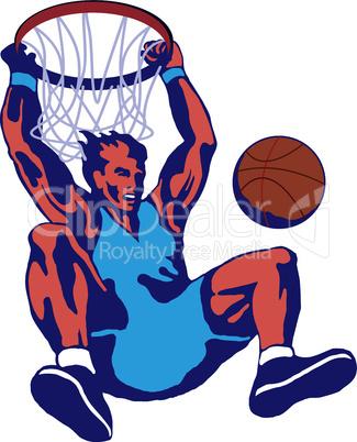 basketball slam dunk retro